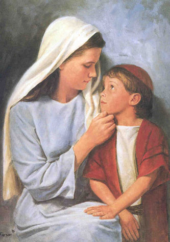 Jesus As A Little Child Painting By Del Parson